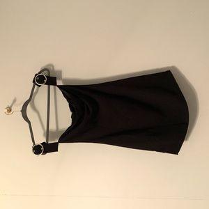 Black mini dress silver sleeve